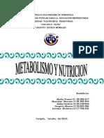 Concepto de Metabolismo y Nutricion