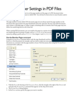 Setting PDF Page Numbers