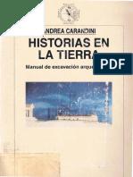 Carandini,  Historias en la Tierra