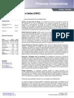 Calificación de Riesgos crediticios corto y largo plazo - 2012