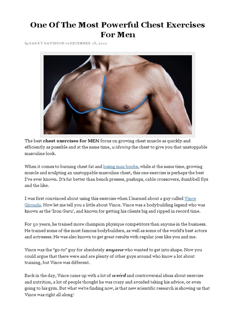 One Of The Most Powerful Chest Exercises For Men pdf
