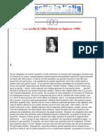 Gilles Deleuze Tre Lezioni Su Spinoza
