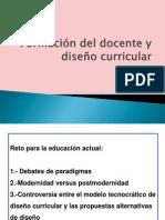 Formacion docente y diseño curricular