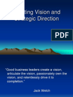 Creating Vision Strategic Direction