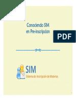 2 - Conociendo SIM en Pre-Inscripcion