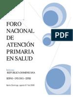 Relatoria Foro Nac Atencion Primaria 2008