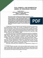 Organizational Intertia Strategic Change