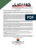 Declaración Pública JRME - 01 diciembre de 2013