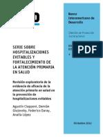 Serie Sobre Hospitalizaciones Evitables