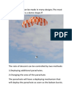 Parachute Design and Construction