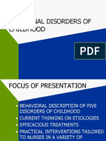 Childhood Disorders Powerpoint