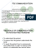Therapeutic Communication Powerpoint