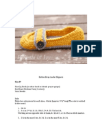 Button Strap Women's Slipper Crochet Pattern
