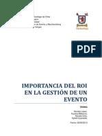 Tesina (Importancia del ROI en la gestión de eventos)