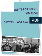 2013 Students for Life of America Annual Report
