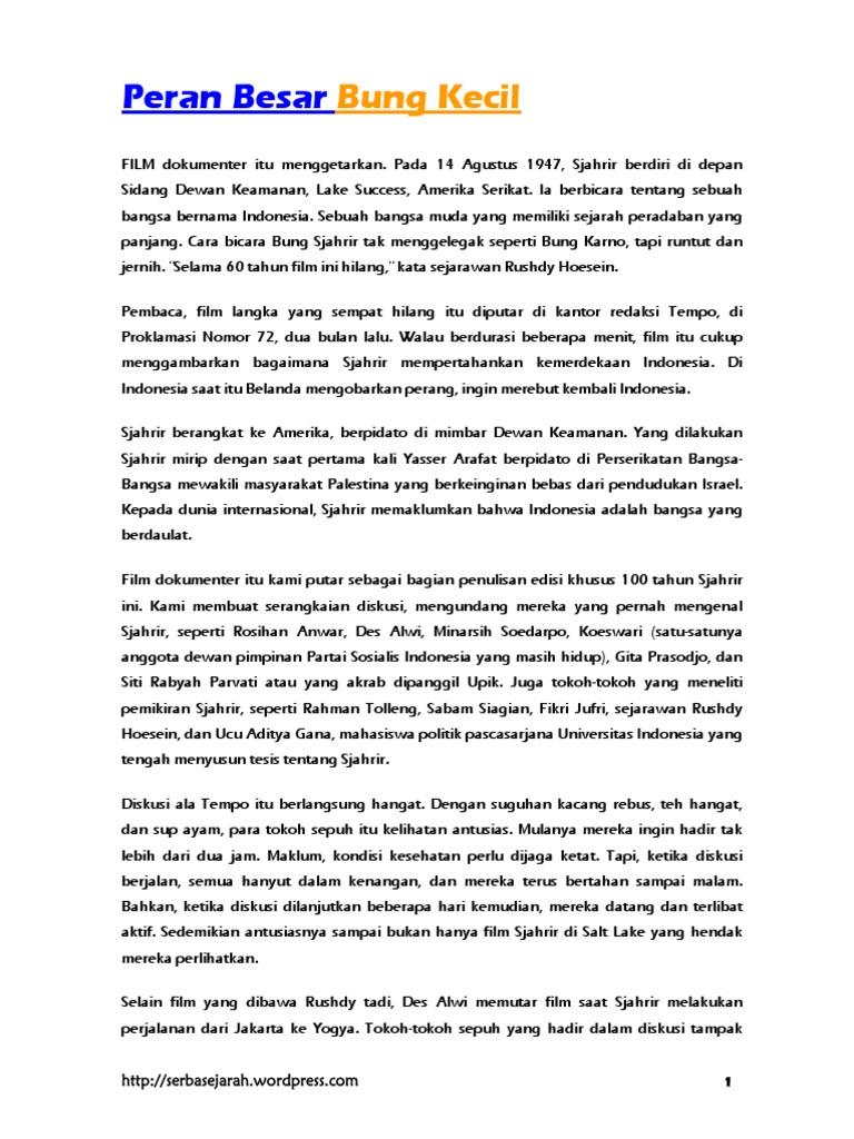 Peran Besar Bung Kecil Biografi Sjahrir 3bb42887eb