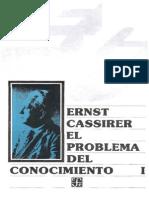 Cassirer El Problema Del Conocimiento I en La Filosofia y en La Ciencia Moderna, I El Renacer Del Problema Del Conocimiento. El Descubrimiento Del Concepto de l