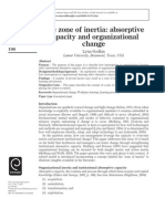 The Zone of Intertia Absorptive Capacity and Organizational Change