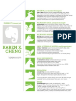 Karen X. Cheng resume for Evernote