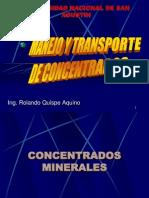 Manejo y Transporte de Concentrados Cap. XI