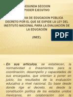 Presentacion Del Decreto Del INEE
