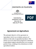 WTO Agreements on Australia
