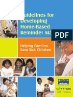 Guidelines for Developing Home Based Reminder Materials for Families of Sick Children