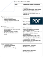 facility-walkthrough evaluation
