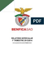 Benfica - Resultados do primeiro trimestre 2013/14