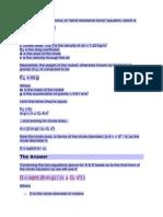 Parachute Formulas