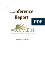 2013 WOMEN Conference Report