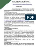 edital itabirito 2013