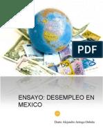 Ensayo Desempleo en Mexico