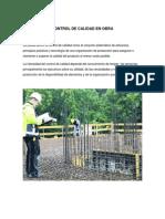 Control de Calidad en Obras de Construcción