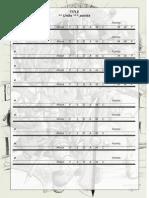 Army List Empty Form - Dwarven Themed