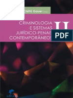 Criminologia e Sistemas Jur¡dico-Penais Contemporƒneos - Volume II - Ruth Maria Chitt¢ Gauer