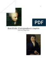 Fichte & Kant - Correspondencia Completa