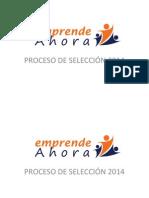 Publicación de finalistas - Beca EmprendeAhora 2014
