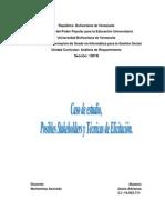 Caso de Estudio, Posibles Stakeholders y Tecnicas de Elicitacion
