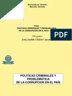Politica Criminal y Corrupcion - Jeny Judith