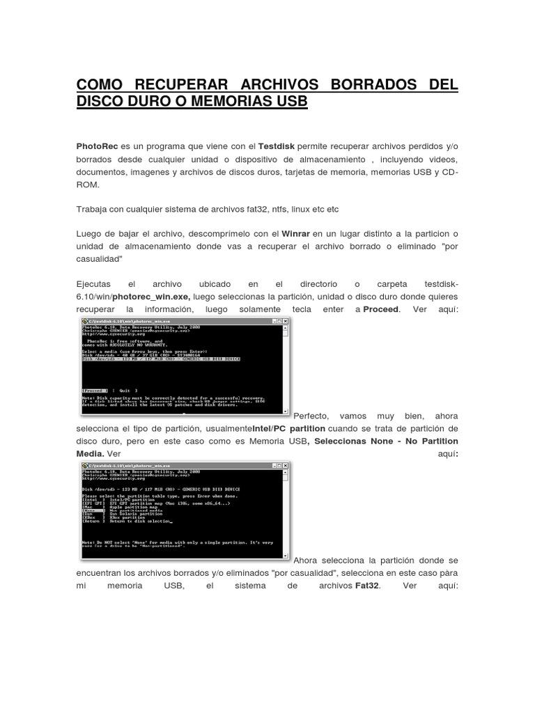 como recuperar archivos borrados de un usb en windows 10