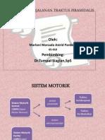 Anatomi Perjalanan Traktus Piramidalis.