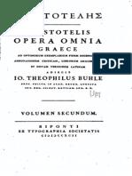 Aristoteles Obras Completas en Griego y Latin Vol 2