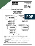 Instruction Manual of Liftmaster Opener 1240