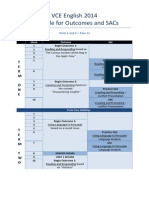 vce english 2014 - schedule for outcomes and sacs