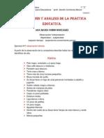 Observación y análisis de la práctica educativa