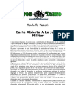 Walsh, Rodolfo - Carta Abierta a La Junta Militar