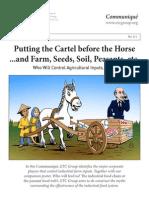 2013 - Communiqué 111 4 sep 3 pm - Putting the Cartel before the Horse