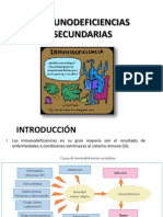 IMNUNODEFICIENCIAS SECUNDARIAS