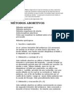 MÉTODOS ABORTIVOS